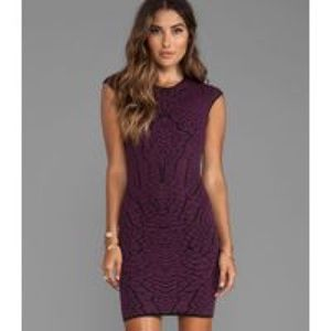 RVN Phoenix Embroidery Dress wine/black sz S